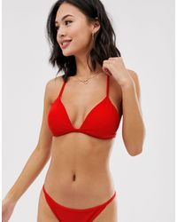 Jack Wills Ambrase Triangle Bikini Top - Red