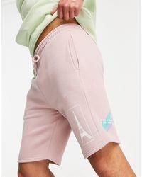 TOPMAN Co-ord Paris Print Shorts - Pink