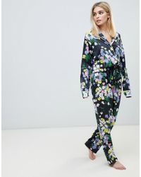ASOS - Mix & Match Floral Pyjama Trouser In 100% Woven Modal - Lyst