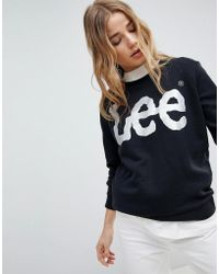 Lee Jeans | Lee Metallic Logo Sweatshirt | Lyst
