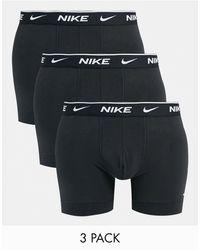 Nike Pack de 3 calzoncillos negros tipo bóxer de -Multicolor
