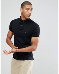Tommy Hilfiger - Slim Fit Polo In Black - Lyst