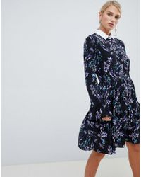 Vila - Shift Dress With Fluted Sleeve - Lyst