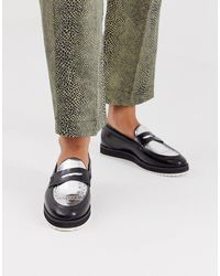 House Of Hounds Bowie Metallic Loafers - Black
