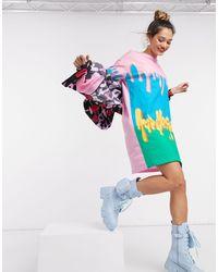 Love Moschino Разноцветная Футболка С Принтом В Виде Мороженого И Логотипом -розовый Цвет
