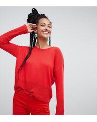 Esprit - Lightweight Oversized Sweater In Red - Lyst