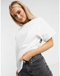 New Love Club Cat Dance Back Print Oversized T-shirt-white