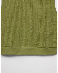 ASOS 4505 Жилет Из Трикотажа Крупной Вязки -многоцветный - Зеленый