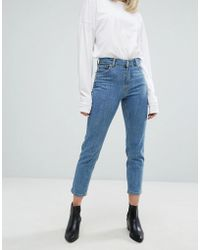 Dr. Denim - Edie High Waisted Slim Cropped Jeans - Lyst