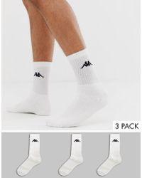 Kappa 3 Pack Sports Socks - White