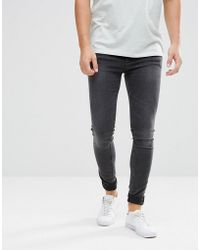 Cheap Monday - Him Spray Super Skinny Jeans Crush Grey - Lyst