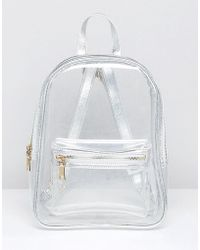 Pull&Bear - Plastic Backpack In Clear - Lyst