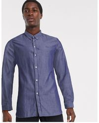 Lacoste Oxford Long Sleeve Shirt - Blue