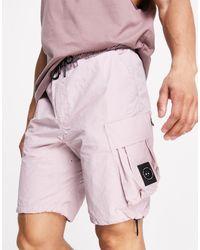 Marshall Artist – cargo-shorts aus technischer baumwolle und polyamid - Pink
