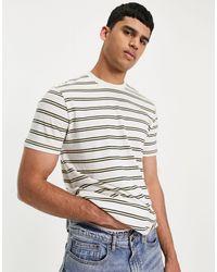 Lee Jeans Stripe T-shirt - Yellow