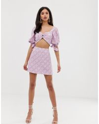 Finders Keepers Nostalgia Two-piece Check Skirt - Purple