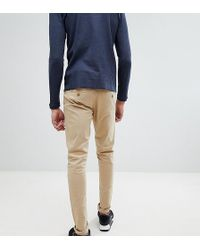 Blend - Tall Slim Fit Chino In Beige - Lyst