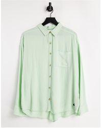 Hollister Chemise en lin - Vert