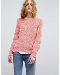 Vero Moda - Cable Knit Jumper - Lyst
