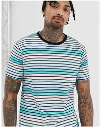 D-Struct T-shirt a righe pastello - Blu