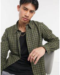 Paul Smith Camicia sartoriale a maniche lunghe a quadri - Verde