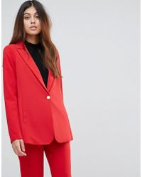 Y.A.S - Oversized Blazer With Shoulder Pads - Lyst