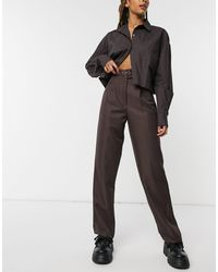ASOS Belted Slouchy Dad Trouser - Brown
