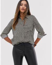 Mango Stripe Printed Shirt In Black