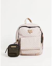River Island Розовый Нейлоновый Рюкзак С Кошельком И Монограммой -розовый Цвет