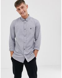 French Connection - Oxford Button Down Logo Shirt - Lyst