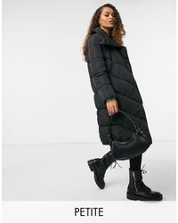 Y.A.S Petite - Y.a.s. Petite Salina Large Collar Long Padded Jacket - Lyst