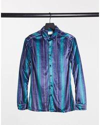 ASOS Stretch Slim Fit Shirt - Blue