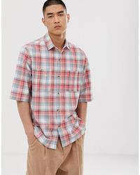 ASOS Oversized Check Shirt - Pink