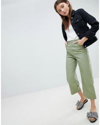 Bershka - Minimal Denim Jacket In Black - Lyst