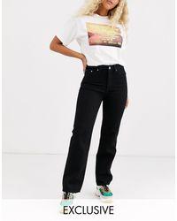 Weekday Voyage Organic Cotton Straight Leg Jean - Black