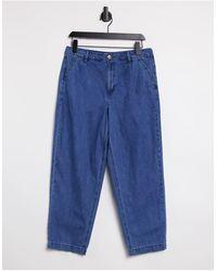 Warehouse Pleat Front Trouser - Blue