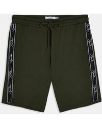 TOPMAN Signature Tape Lounge Shorts - Green
