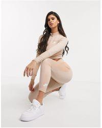 Nike Air – Gerippte Leggings - Natur