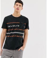 Jack & Jones Originals Aztec Print T-shirt In Black