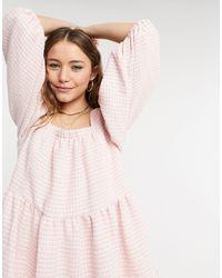 Sister Jane Mini Smock Dress - Pink