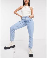 Noisy May Mom jeans lavaggio chiaro - Blu