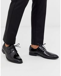 Moss Bros Do Not Use Moss London Patent Derby Shoes - Black
