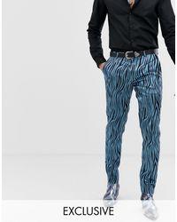 Heart & Dagger Pantalones - Azul
