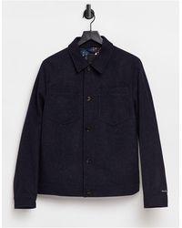 Ted Baker - Укороченная Шерстяная Куртка -темно-синий - Lyst