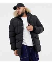 Good For Nothing - Parka Coat In Black Exclusive To Asos - Lyst