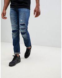 G-Star RAW - 3301 - Jeans affusolati 3d rigenerati - Lyst