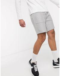 TOPMAN Jersey Shorts - Grey