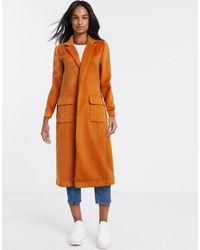 Glamorous Длинное Пальто Горчичного Цвета -мульти - Оранжевый