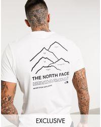The North Face Белая Футболка Peaks Эксклюзивно Для Asos-белый
