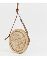 Accessorize - Mia Circle Straw Cross Body Bag - Lyst